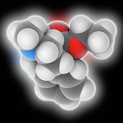 Meperidine Drug Molecule Poster by Laguna Design