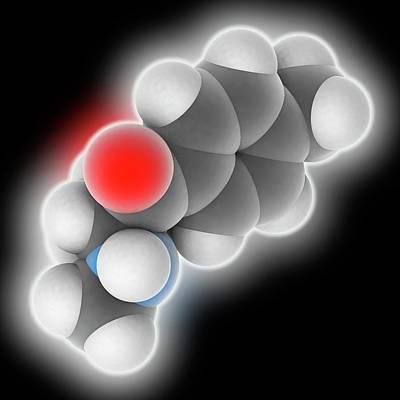 Mephedrone Drug Molecule Poster by Laguna Design