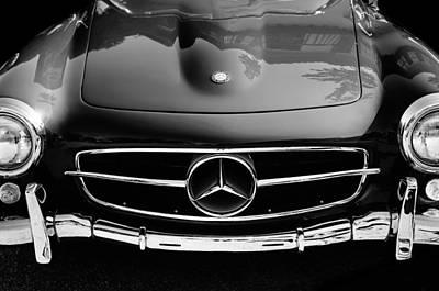 Mercedes-benz 190sl Grille Emblem Poster by Jill Reger
