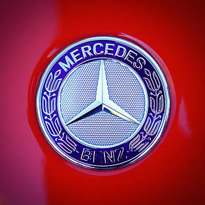 Mercedes-benz 6.3 Amg Gullwing Emblem Poster by Jill Reger