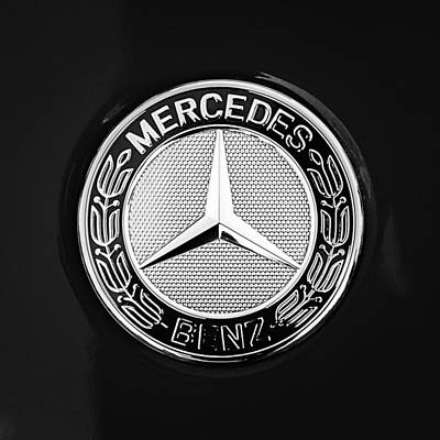 Mercedes-benz 6.3 Gullwing Emblem Poster