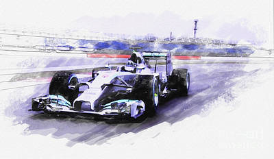 Mercedes F1 W05 Poster