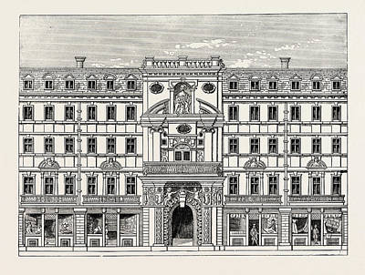 Mercers Chapel As Rebuilt After The Fire London Poster by English School