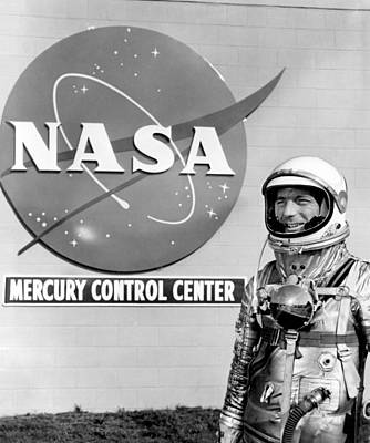 Mercury Control Center, Astronaut Scott Poster by Science Source