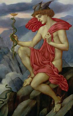 Mercury Poster by Evelyn De Morgan