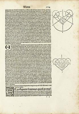 Mercury In Ptolemy's Almagest (1515) Poster