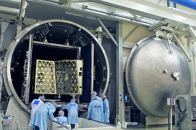 Mercury Planetary Orbiter Testing Poster by Esa-anneke Le Floc'h