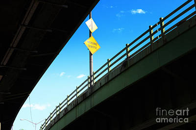 Merge Traffic On Highway Bridge Bronx New York City Poster by Sabine Jacobs