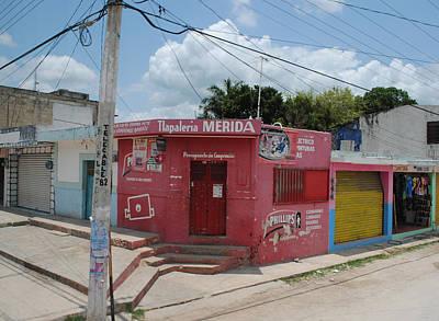Merida Mexico Street Corner Poster by Robert  Moss