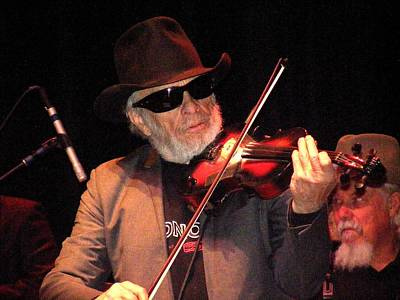 Merle Haggard Playing Fiddle Poster by Kelly Mac Neill