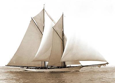 Merlin, Merlin Schooner, Yachts Poster by Litz Collection