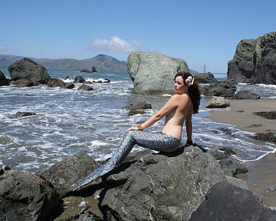 Mermaid At Lands End Poster