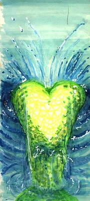 Mermaid Heart Poster by Del Gaizo