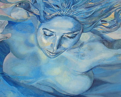 Mermaid Poster by Ramona Johnston