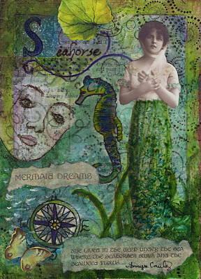 Mermaid Seahorse Dreams Poster