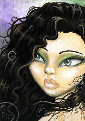 Mermaid Tia Poster by Elaina  Wagner