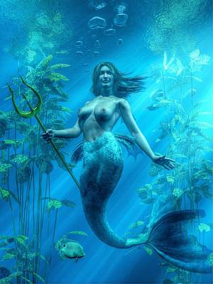Mermaid Underwater Poster