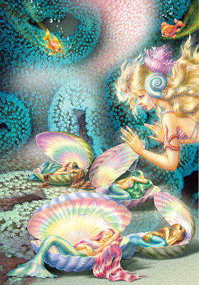 Mermaids Bedroom Poster