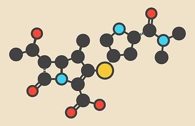 Meropenem Antibiotic Molecule Poster by Molekuul