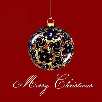 Merry Christmas Bauble Poster