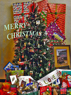 Merry Christmas Card Color Poster by Gary Brandes