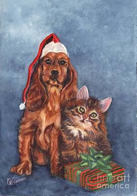 Merry Christmas Poster by Carol Wisniewski