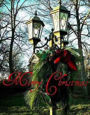 Merry Christmas Greeting Card Poster by Chris Berry
