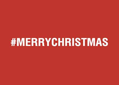Merry Christmas Hashtag Poster