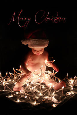 Merry Christmas Poster by Lisa Evans