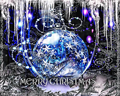 Merry Christmas Poster by Mo T