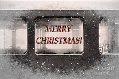 Merry Christmas Red Poster by Janice Rae Pariza