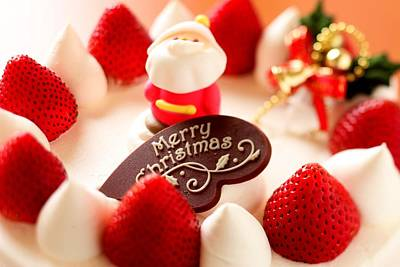 Merry Christmas In Strawberries Poster