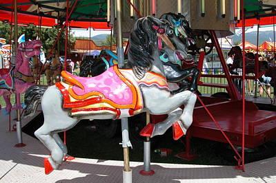 Merry-go-round Horse Poster