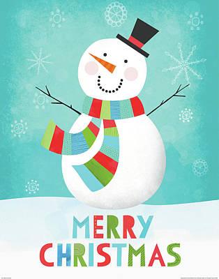 Merry Snowman IIi Poster by Lamai Mccartan