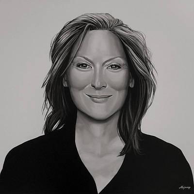 Meryl Streep Poster by Paul Meijering