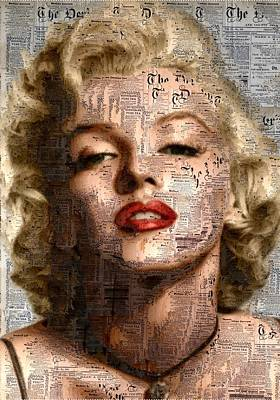 Marilyn - Newspaper Poster