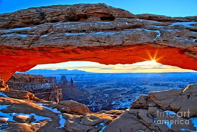 Mesa Arch Sunrise Poster by Adam Jewell
