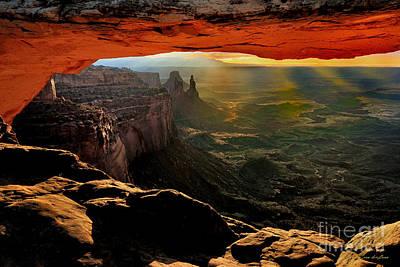 Mesa Arch Sunrise Poster by Boyd  E Van der Laan