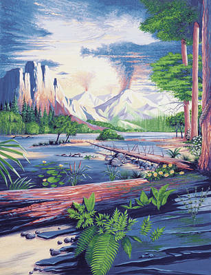 Mesozoic Landscape Poster by Deagostini/uig