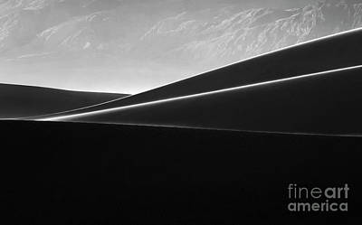 Death Valley California Mesquite Dunes 4 Poster by Bob Christopher