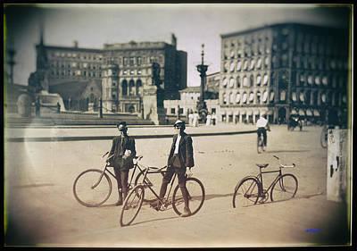 Messenger Boys On Bikes Poster