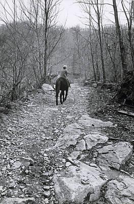 Messenger On Horseback Poster by Bruce Roberts