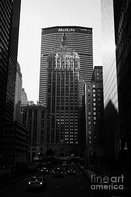 Met Life Building And 230 Park Avenue New York City Poster