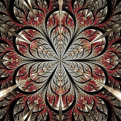 Metal Flower Poster by Anastasiya Malakhova