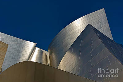 Metal Fold - Walt Disney Concert Hall Abstract In Downtown Los Angeles Poster by Jamie Pham