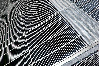 Metal Grid Floor Poster by Michael Osterrieder