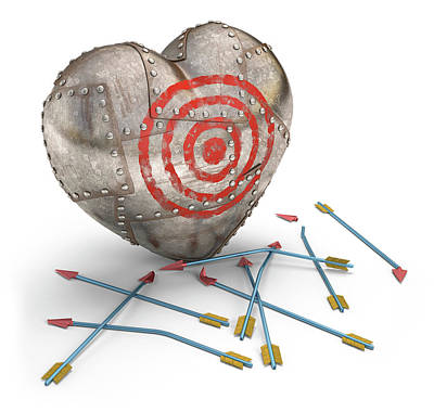 Metal Heart Target Poster by Ktsdesign