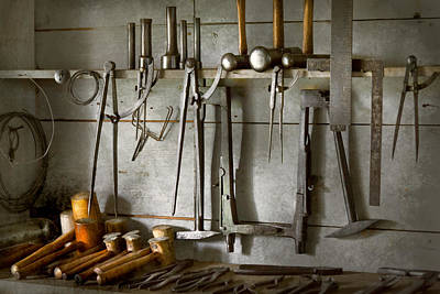 Metal Worker - Tools Of A Tin Smith Poster by Mike Savad