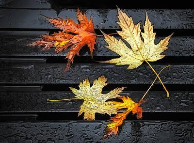 Metallic Leaves Poster