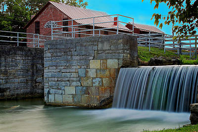 Metamora Waterfall Poster by Chuck Campbell